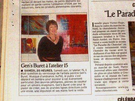 Gen's Buret à l'atelier 15 dans Si on sortait ? article2